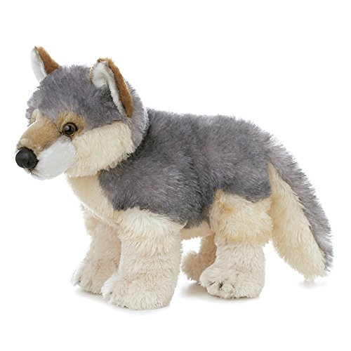 Flopsies - Lobo de Peluche, 31 cm, Color Gris y Blanco (