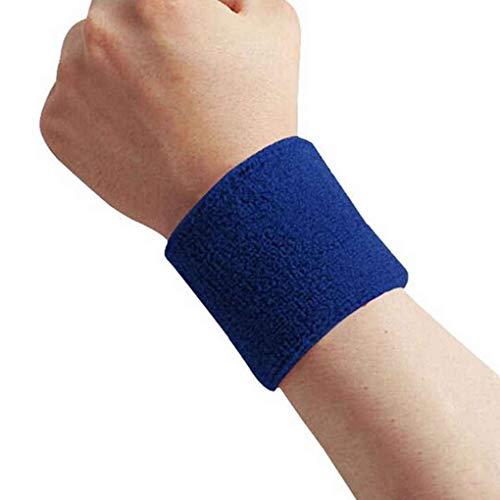 Republe 1x Unisex Frottier Baumwolle Schweißband-Sport-Handgelenk Tennis Yoga Schweißband