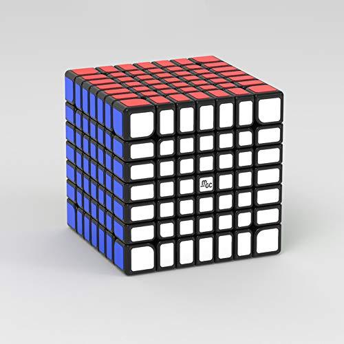 AKDSteel Cubo mágico YJ 7x7 MGC Edición magnética Cubo de Velocidad sin Adhesivo magnético Black Juguetes de versión Mejorada para Todas Las Edades