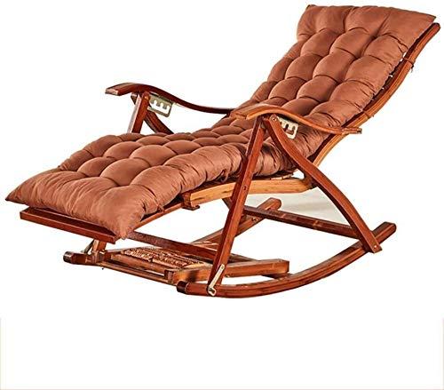 PAKUES-QO Mecedora reclinable con sillón Acolchado, sillón Plegable con Respaldo Curvo y cómodo para jardín, Patio, sillas reclinables, Tumbona (Color: Morado)