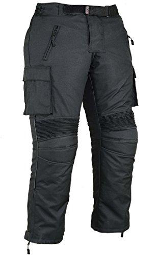 Heren motorfiets beschermende broek waterbestendig - zwart
