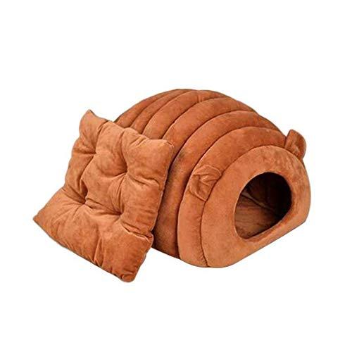 Guomaomao huisdier bed kat bed grot hond nest slaapzak half gesloten zacht warm huis voor kleine middelgrote huisdieren, S, Rood