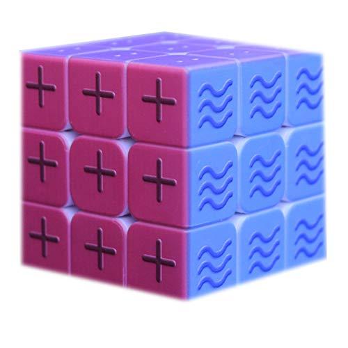 Cubo de Velocidad para invidentes, patrón de geometría sobresaliente 3D Fruta Braille Huella Digital estéreo Rubiks Cubo 3x3 En Relieve Personalidad Puzzle para niños - Caja de Pandora,B