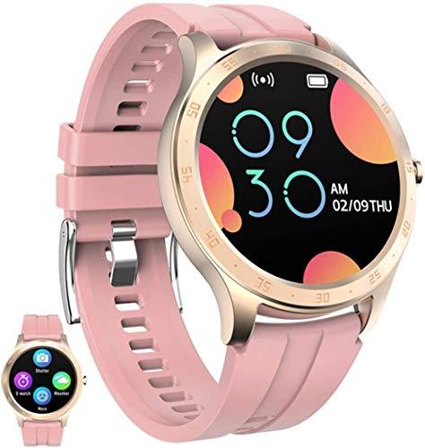 Smart Watch Fitness Tracker con monitor de ritmo cardíaco, rastreador de actividad con control de música, reloj de fitness, contador de pasos, color rosa