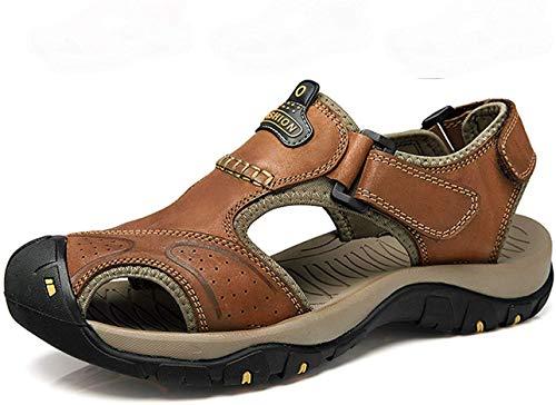 Sandalias Hombres Deportivas Verano Senderismo Chanclas Trekking Zuecos Zapatos cangrejeras Cuero Zapatillas Playa Pescador Deportiva Deporte Cross Antideslizantes