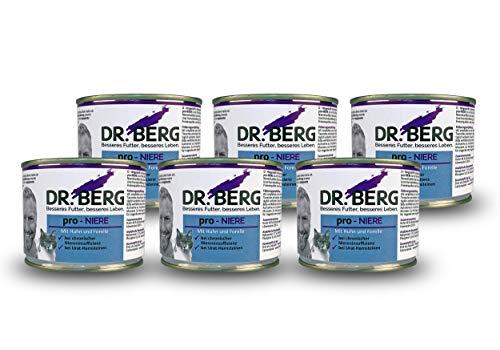 Dr. Berg pro-NIERE Nassfutter für Katzen: Diätfutter bei Nierenproblemen & Niereninsuffizienz (6 x 200g)