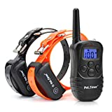 Petrainer PET998DB2 330 Yards Rechargeable and Waterproof Dog Training Collar for 2 dogs