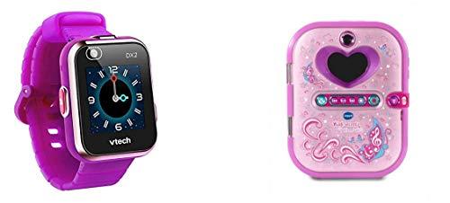 VTech Kidizoom Smart Watch DX2 lila Smartwatch für Kinder Kindersmartwatch & 80-163604 Kidisecrets Selfie Music Tagebuch; Elektronisches Tagebuch