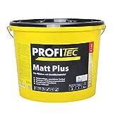 ProfiTec P144 Mattplus Profi Wandfarbe Innenfarbe matt 12.5 Liter, weiß