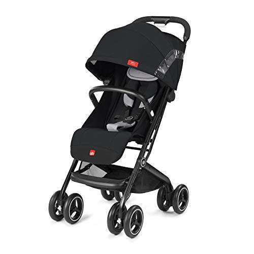 GB Qbit+ All Terrain Compact Pushchair, Ideal for travel, 3-in-1 Travel System, From Birth to 15 kg (approx. 4 years), Velvet Black