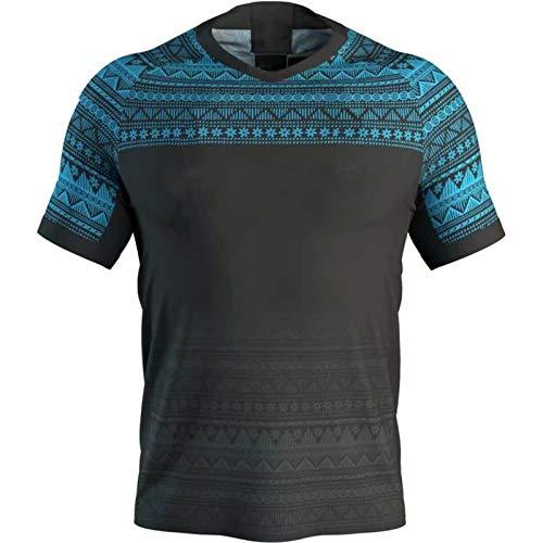 FǐJǐ 2020 7S Sevens Home Sports T-Shirt Running Anzug Traditioneller Kleidung Rugby Spieler Jersey Outdoor Training Rack Anzug Training Tragen Sportswear Polyester black1-S
