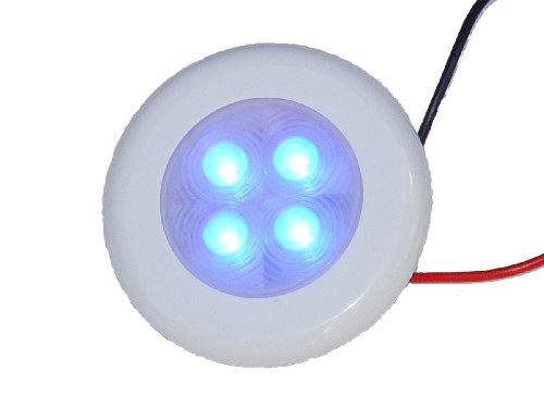 Aqua Signal 4 LED Accent et Courtois léger avec Coques interchangeables, Bleu