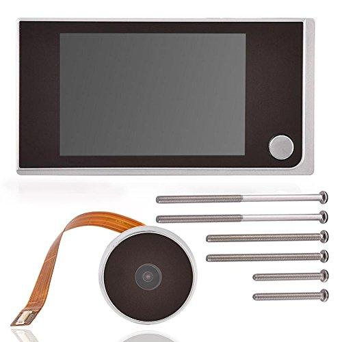 Tosuny Visualizzatore Porta spioncino Digitale con Schermo LCD da 3,5 Pollici, Campanello Video HD Mini 720P Telecamera di Sicurezza Domestica, 120 Gradi grandangolare