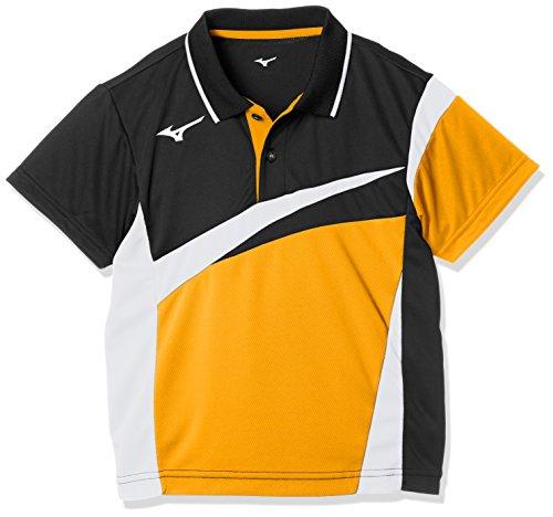 [Mizuno] テニスウェア ゲームシャツ 半袖 ストレッチ 吸汗速乾 ドライ ソフトテニス バドミントン 認定 ジュニア 62JA8005 キッズ ポップオレンジ 日本 140 (日本サイズ140 相当)