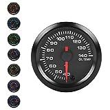 Supmico 52mm Motore Auto Kit misuratore Temperatura Olio dell'olio Puntatore Indicatore Luminoso a LED 7 Colori Universale