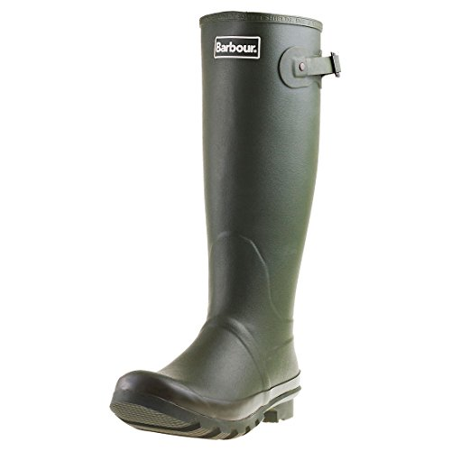 Mens Barbour Bede Winter Waterproof Wellington Snow Rain Mid Calf Boots - Olive - 7