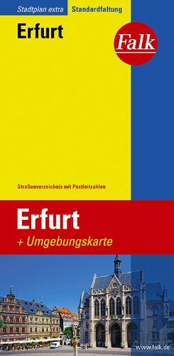 Falk Stadtplan Extra Standardfaltung Erfurt