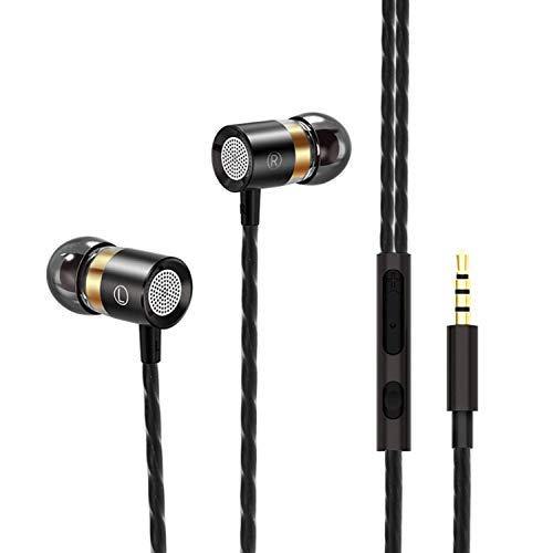 Auriculares con Cable, DEAROPE Auriculares in Ear Magnéticos con Micrófono Sonido Estéreo para Samsung Galaxy, Huawei, XiaoMi, PC, MP3/MP4 y Todos los Dispositivo de Interfaz de 3,5mm (Tipo 2)