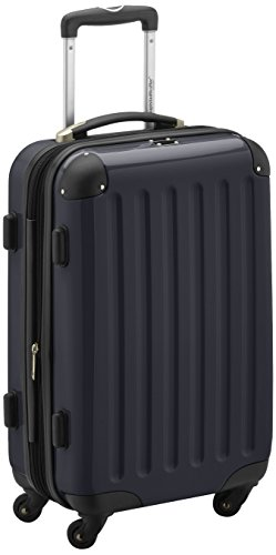 HAUPTSTADTKOFFER - Alex - Carry on luggage On-Board Suitcase Bag Hardside Spinner Trolley 4 Wheel Expandable, 55cm, black