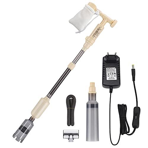 Bedee - Limpiador eléctrico para acuarios automático, para limpieza de acuario, filtro de arena, depósito de peces de 18 W, para acuarios, grava, suciedad