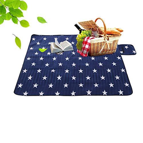 FXPCQC Campingdecke Picknickdecke Picknickmatte Rasenteppich Faltbare Feuchtigkeitsbeständige Wildlederkissen Krabbelmatte Outdoor Supplies Rest Decke
