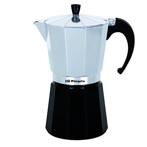 Orbegozo KFM 630 – Cafetera italiana de aluminio, 6 tazas de capacidad, negro y silver