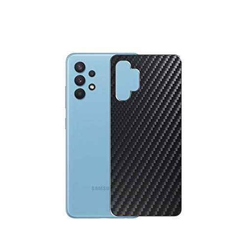 Vaxson 2 Unidades Protector de pantalla Posterior, compatible con Samsung Galaxy A32 4G LTE, Película Protectora Espalda - Fibra de Carbono Negro