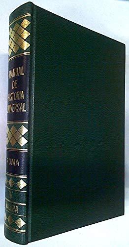 Manual de Historia Universal Tomo IV Roma