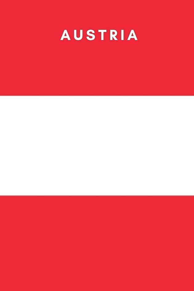 威信優れたルーAustria: Country Flag A5 Notebook (6 x 9 in) to write in with 120 pages White Paper Journal / Planner / Notepad