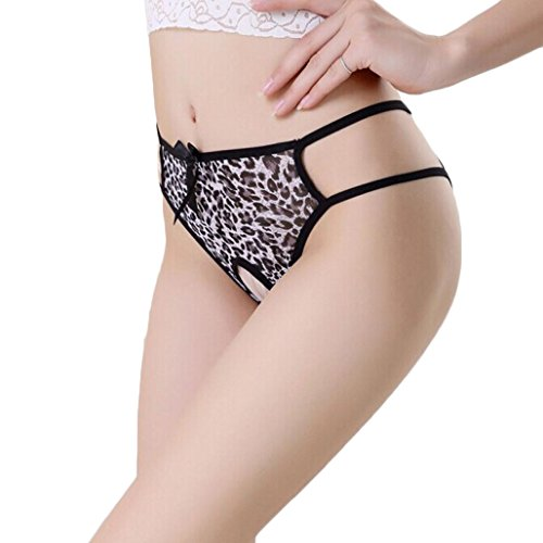 TONSEE® Femmes Sexy Crotchless G-String Slips Lingerie Culotte Culotte sous-vêtements (Gris)