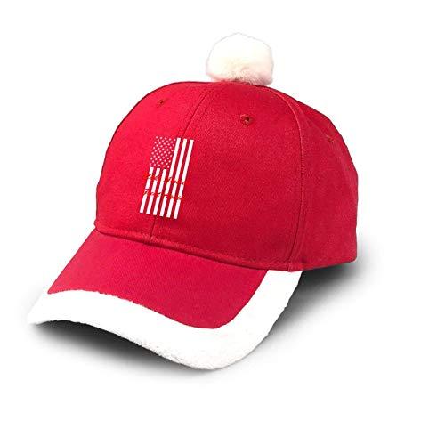 Sombrero de camionero Make America Great Again Flag Sombrero de algodón de béisbol para papá de Papá Noel, disfraz rojo