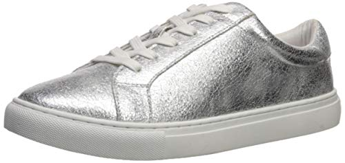 The Drop Nina, scarpe da tennis alla moda, con lacci da Donna, metallico argento, 36 EU