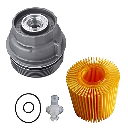 OxoxO 15620-31060 Oil Filter Housing Cover Cap with 04152-YZZA5 Replaceable Oil Filter Element