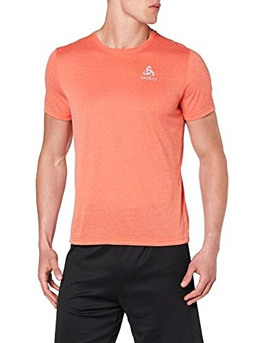 Odlo Herren T-Shirt s/s Crew Neck Millennium Element, orange.com Melange, L
