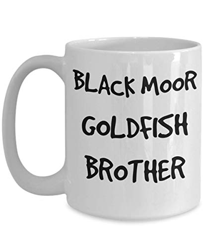 Black Moor Goldfish Brother Mug - White 11oz 15oz Ceramic Tea Coffee Cup - Perfect For Travel And Gifts