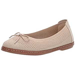 Cole Haan Women's CLOUDFEEL All Day Knit Ballet Flat, CEMENTGOLD KNITPRINCESS Natural OS, 10.5