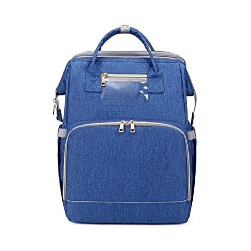 QIANJINGCQ New Mummy Bag Leisure Maternal and Baby Bag Folding Crib Portable Diaper Bag Shoulder Outing Backpack