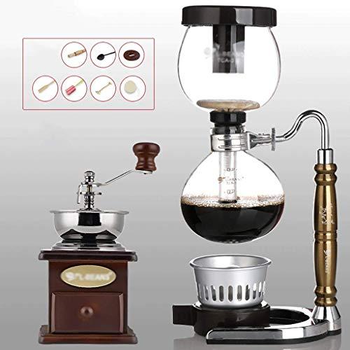Manual Coffee Grinder -Siphon Cafetera café establecer Sifón cerdo del zodiaco Totem Sifón Cafetera 3 tazas de vacío máquinas de café Haike WTZ012