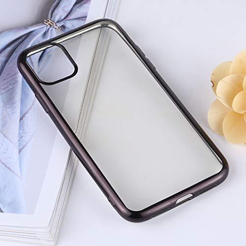 Xyamzhnn TPU Transparente Anti-Gota y la Caja Protectora Impermeable del teléfono móvil for el iPhone 11 Pro MAX (Color : Black)