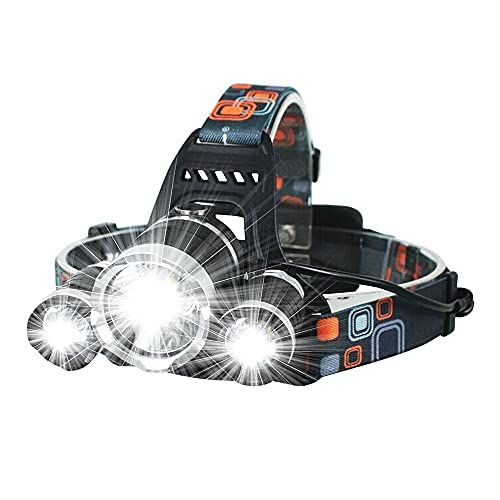 BelleLife Linterna frontal LED recargable, IPX6, resistente al agua, ligera, ideal para senderismo, camping, correr (incluye cable USB)