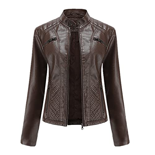 NP Primavera otoño mujer Casual Streetwear Collar Slim Biker