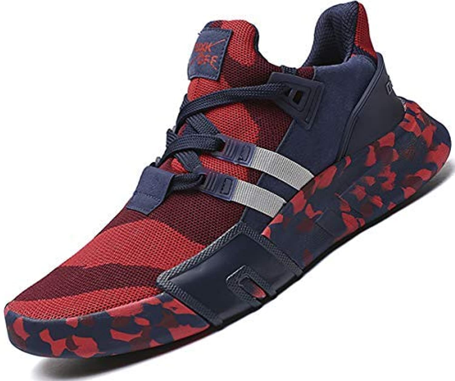 SKDOIUL Fashion Mesh Walking Sneakers for Youth Boys Lightweight Breathable Trail Sport Running shoes Red Size 11 (1818-Red-45)