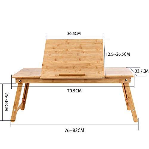 WTT Verstelbare laptop tafel, opvouwbare speeltafel, houten bureau, kinderen tekentafel die kan worden gedraaid (Afmetingen: 70.5 * 33.7 * 36 cm)