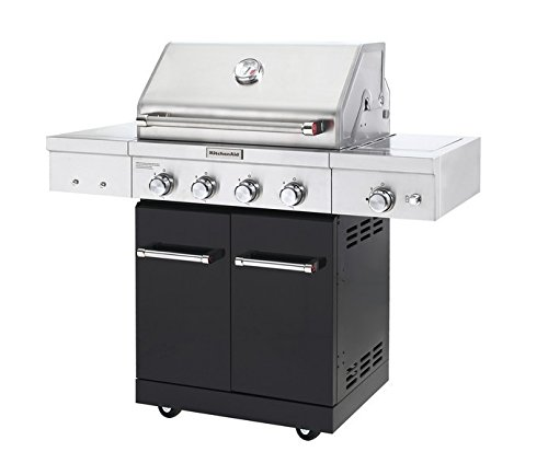 KitchenAid 720-0954A Full-Size Propane Gas Grill, Black