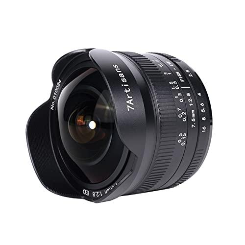 7artisans Fisheye Objektiv 7,5mm F2.8 II Ultraweitwinkel Manueller Fokus APS-C für Kamera DSLR Sony NEX-3 NEX-3N NEX-3R NEX-5T NEX-5R NEX-7 NEX-5C A5000 A5100 A6000 A6300 A6500