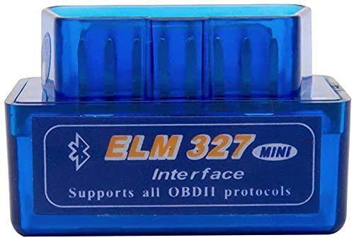 Baceyong Lector de códigos de diagnóstico Mini ELM 327 Bluetooth V2.1 OBD OBDII herramienta de par de apriete escáner de códigos