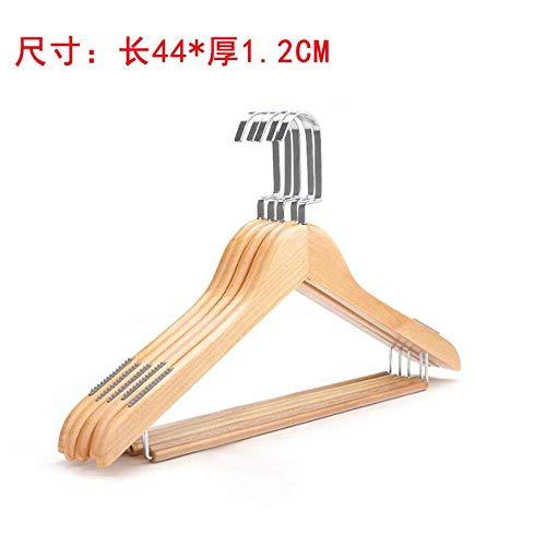 Yuzhiming CHUNJIAO Hanger Massief hout Hotel kleding winkel huishoudelijke houten natuurlijke houten jumpsuits 10 stukken-Hout kleur_10 Mooie houten kledingrek