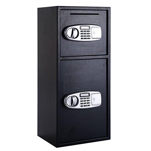 Giantex Double Door Digital Safe Depository Drop Box Safes Cash Office Security Lock