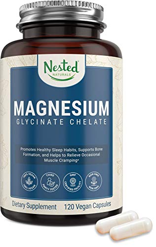 Nested Naturals – Magnesium Glycinate Chelate Supplement 200mg...