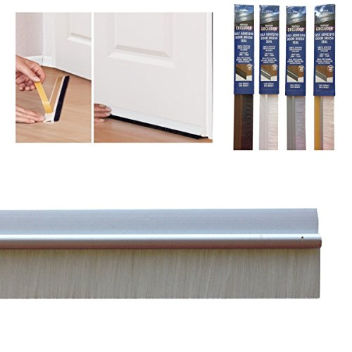 Bottom Door Seal With Colour Matching Brush In Self Adhesive PVC, 860 Mm/34\